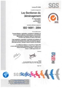 certificat iso 14001 sgs